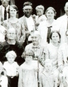 Alzada Courtney, middle person of middle row,  longest-lived participant in the Free State of Jones, 1926. Alzada died in 1936 at age 108. Photo courtesy of Ralph Kirkland