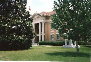 The Ellisville Courthouse, Ellisville, Mississippi, where Davis Knight was tried and found guilty of miscegenation.