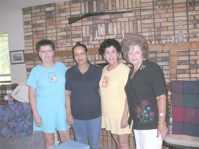 Present-day descendants of Lucy Jane Ainsworth: l to r, Yvonne Bivins, Flo Wyatt, Vicki Knight, Anita Williams