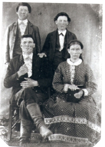 Widow and sons of Jesse Hulin, killed by vigilantes for refusing to fight for the Confederacy