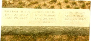 Triple grave of William, John, and Jesse Hulin, Troy, NC