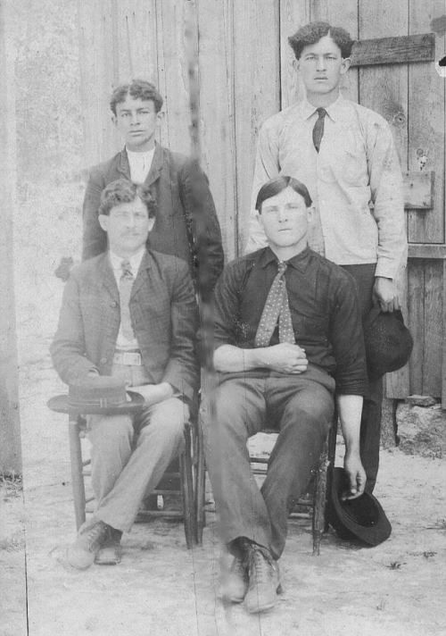 Lucy's sons: standing, l to r: Wilder Knight & Warren Smith. Sitting l to r: Louis Smith & Quillie Anderson