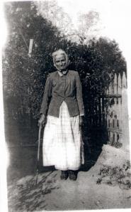 Serena Knight in old age. Collection of Yvonne Bivins.