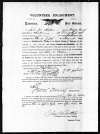 Enlistment doc. of John W. Axton, who resided in Perry Co., MS in 1860, joined the 1st N.O. Infantry on 25 Mar. 1864, and died the following October.