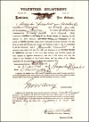 "Enlistment Document of Augustus (""Gus"") Lambert"