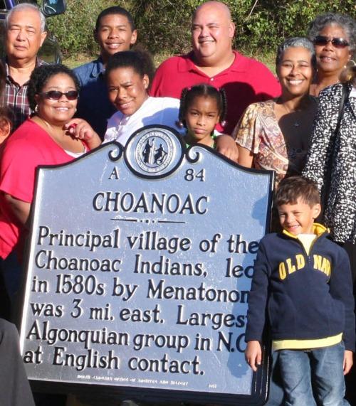 Choanoac Village marker