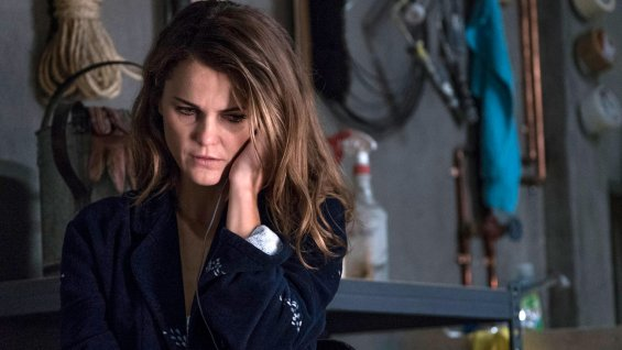 Keri Russell, scene from The Americans, with an expression that Serena might have worn more than once during her long and conflicted life.