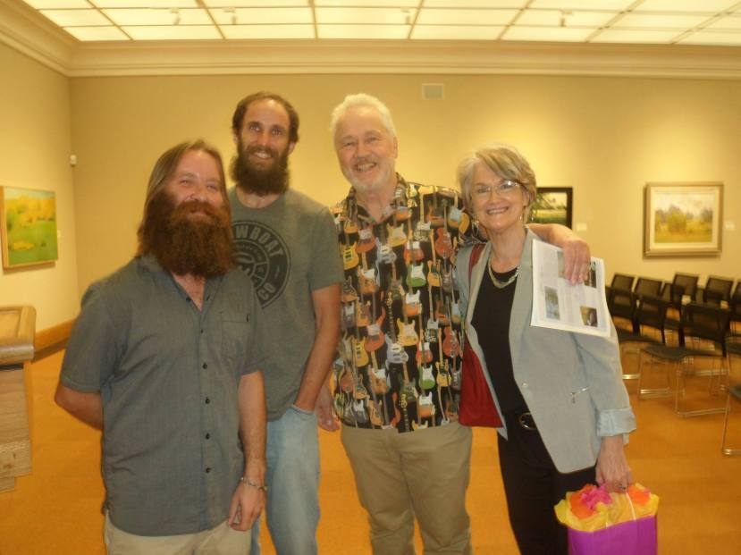 Gregg and I with Kyle Baughman and Joseph Hosey---see them in the movie!---at the Lauren Rogers Museum