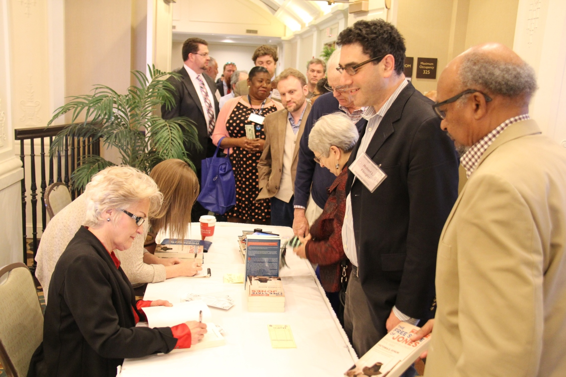 Victoria Bynum signing books, Annual Meeting of the Mississippi Historical Society, March 4, 2016