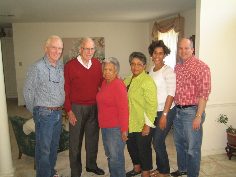 Andy Mullins, Gov. Wm. Winter, Florence Knight Blaylock, Dorothy Knight Marsh, Eunice Smith, Brother Rogers, Soso, MS. Photo courtesy of Brother Rogers.