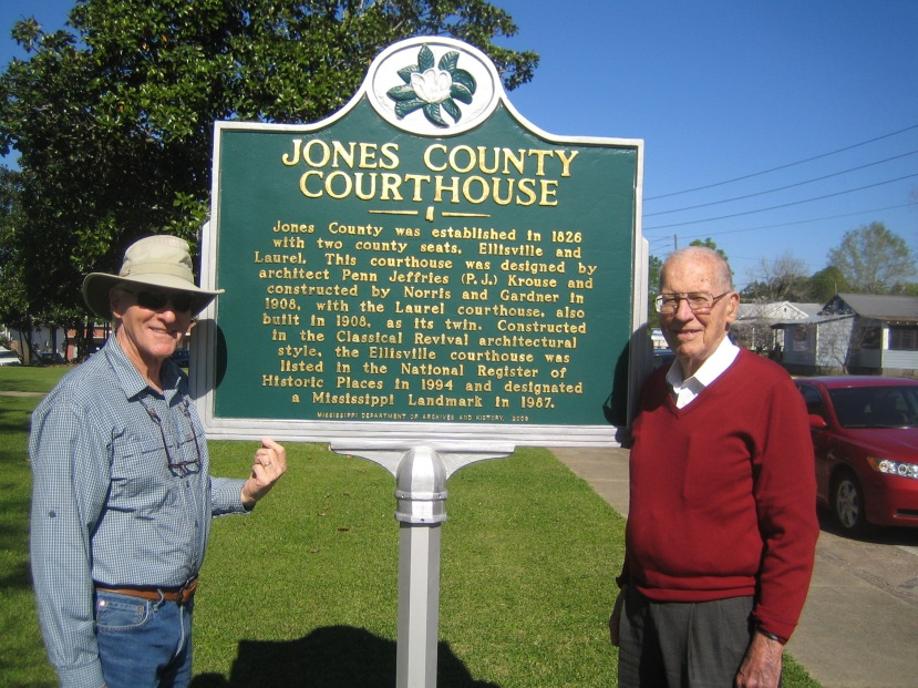 Andy Mullins and Gov. Wm. Winter, Ellisville, MS. Photo courtesy of Brother Rogers